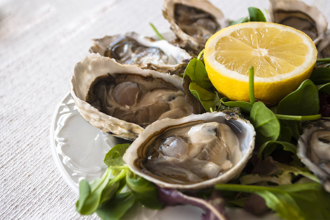 Some shellfish such as oysters are contraindicated during pregnancy.