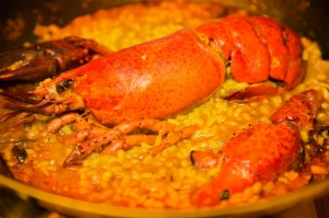 Order our rice dish with lobster